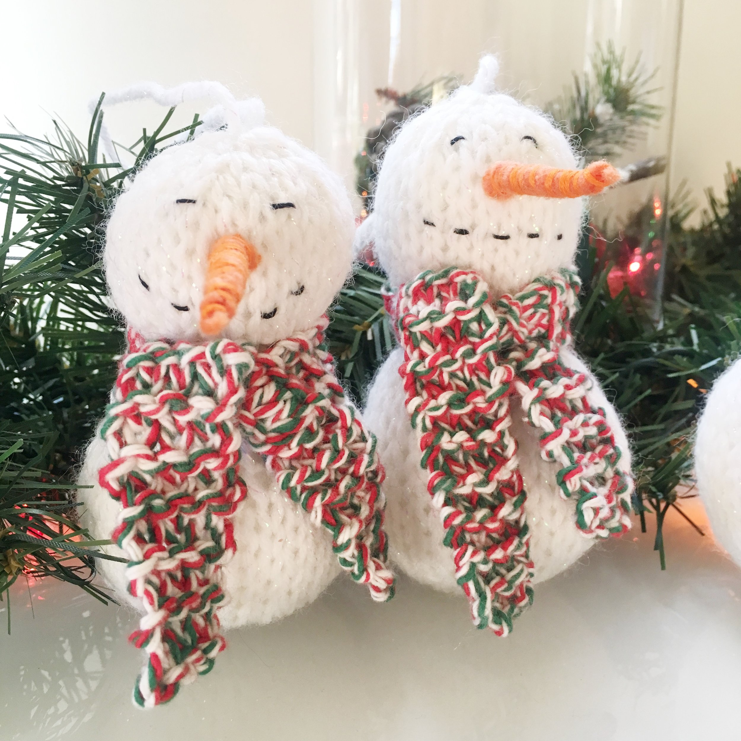 knit snowman ornament by elisemade