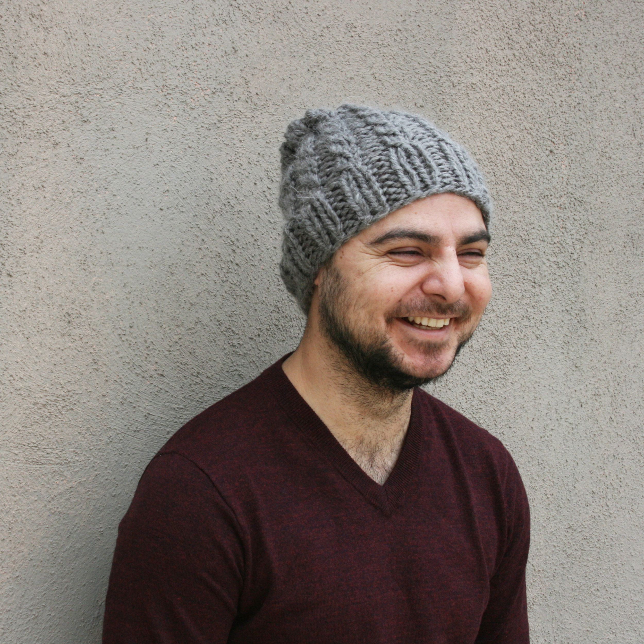 Pylon-Knitting-Pattern-For-Chunky-Hat-with-cables-by-elisemade