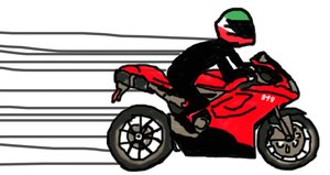 Ducati-848-with-rider-cartoon-drawing-elise-lopez