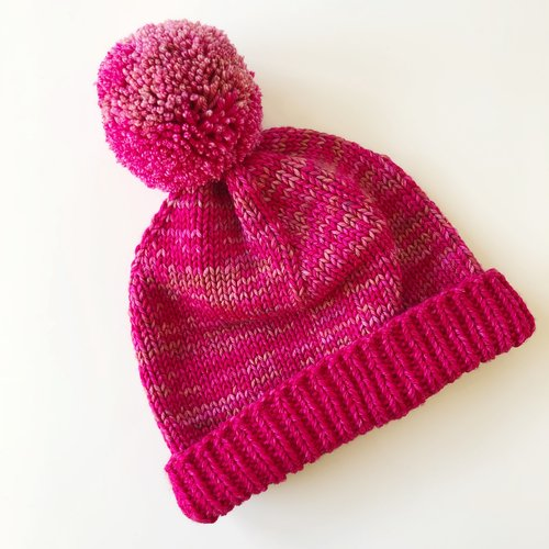 Custom Double Brimmed Hat with Pompom