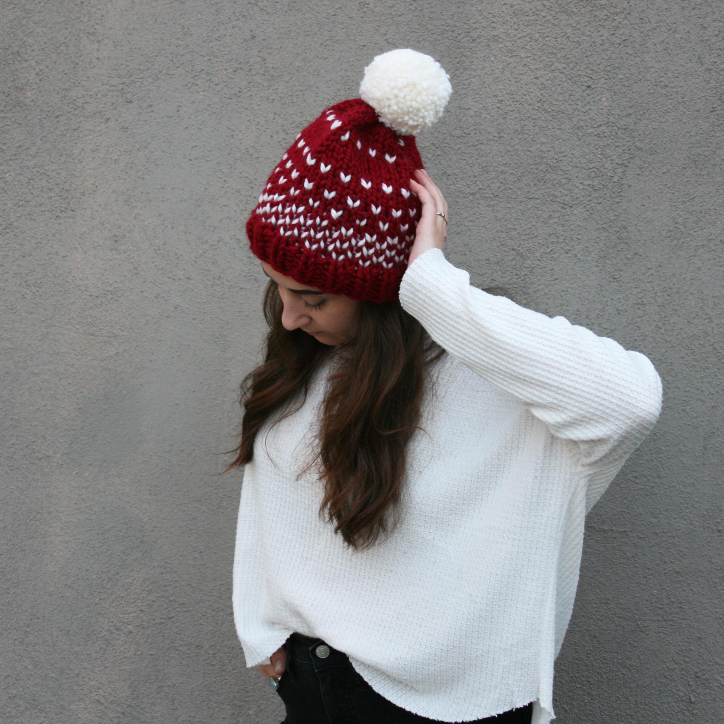 Falling Snow Hat