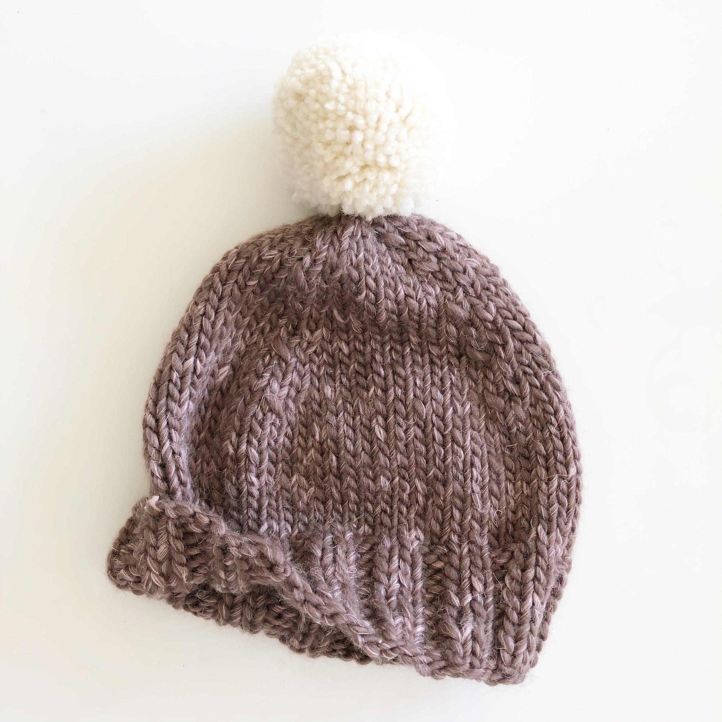 Basic Baby Hat with Pompom