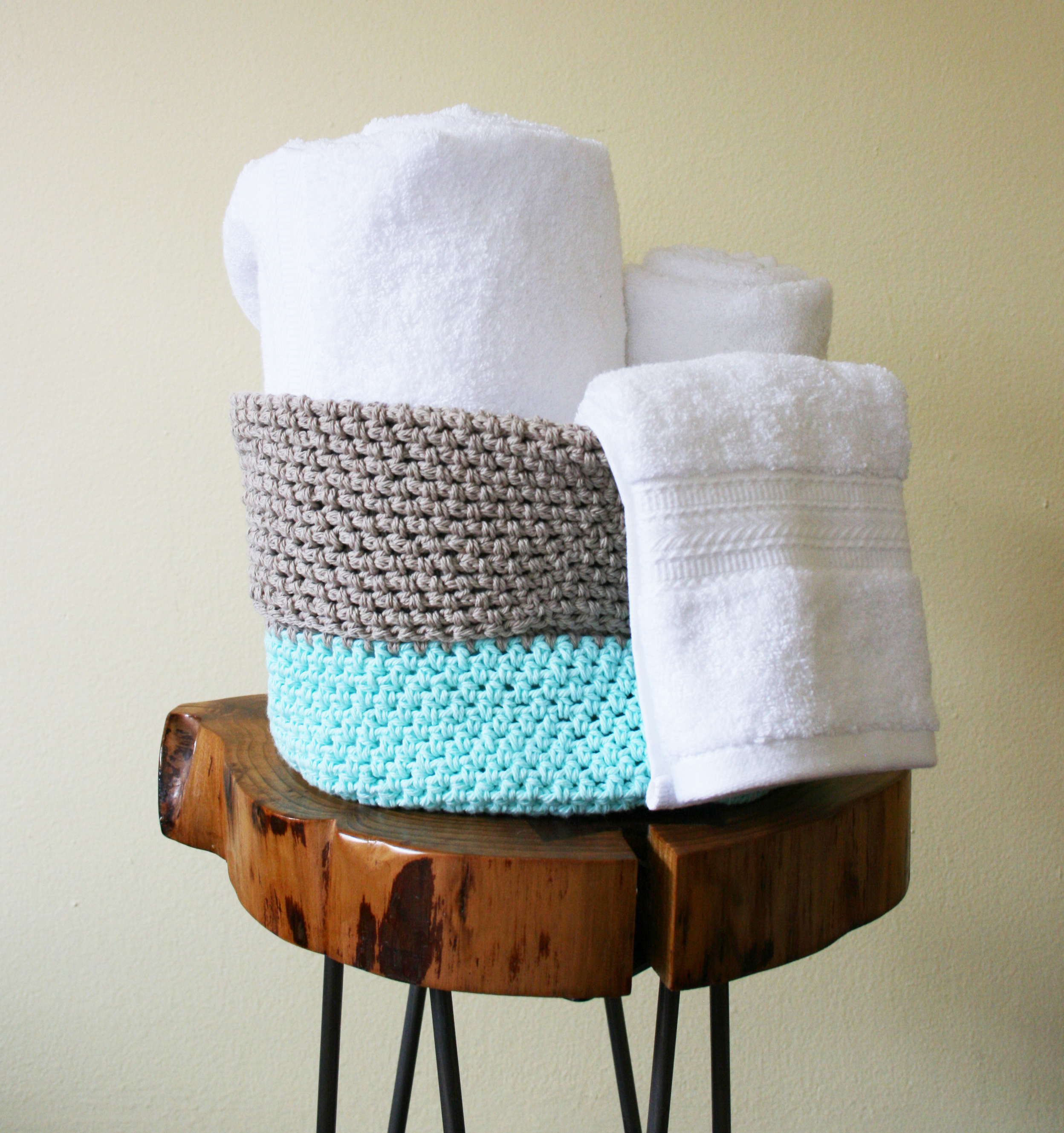 Large Crochet Basket