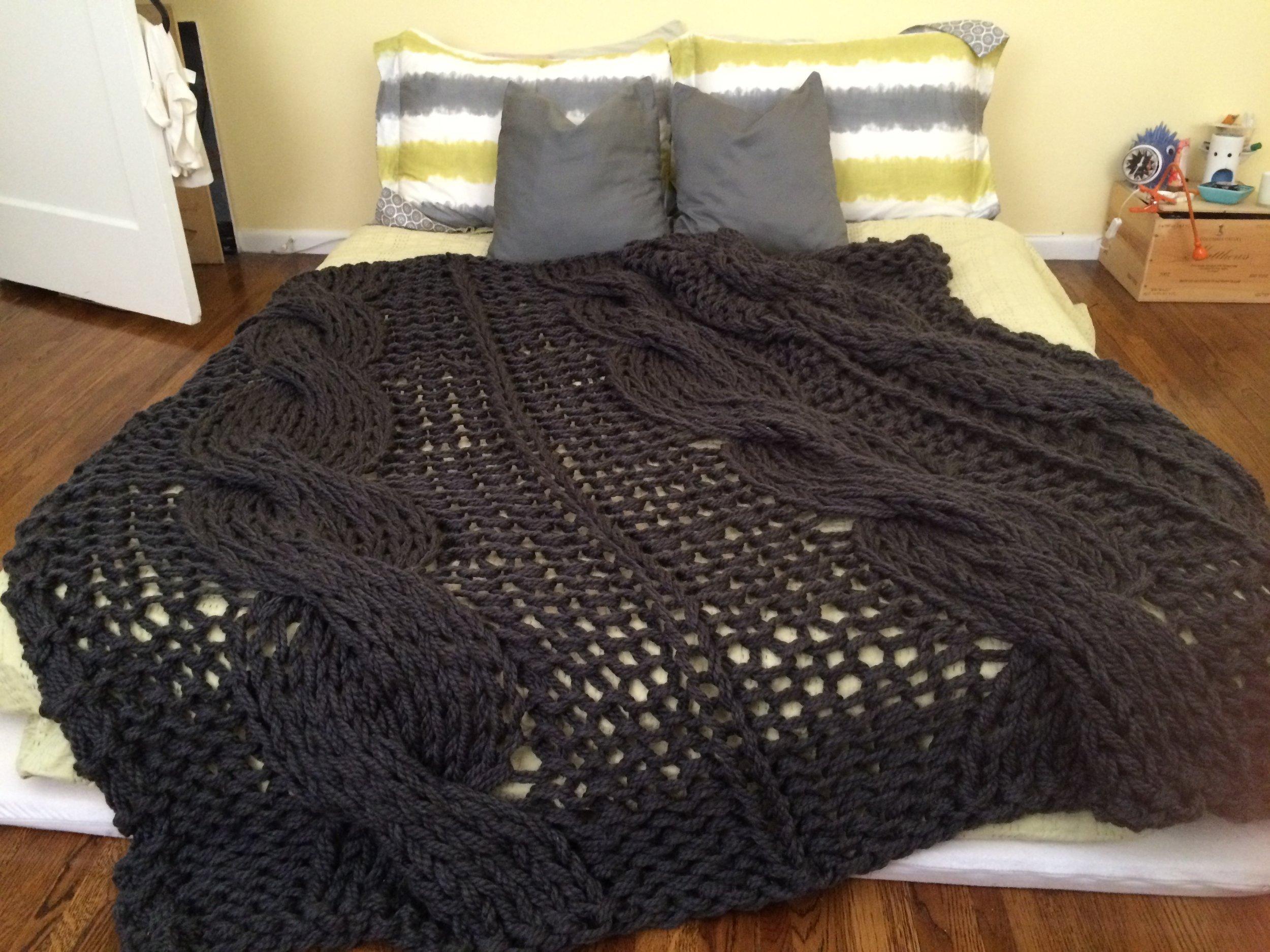 Custom Oversized Cable Knit Blanket