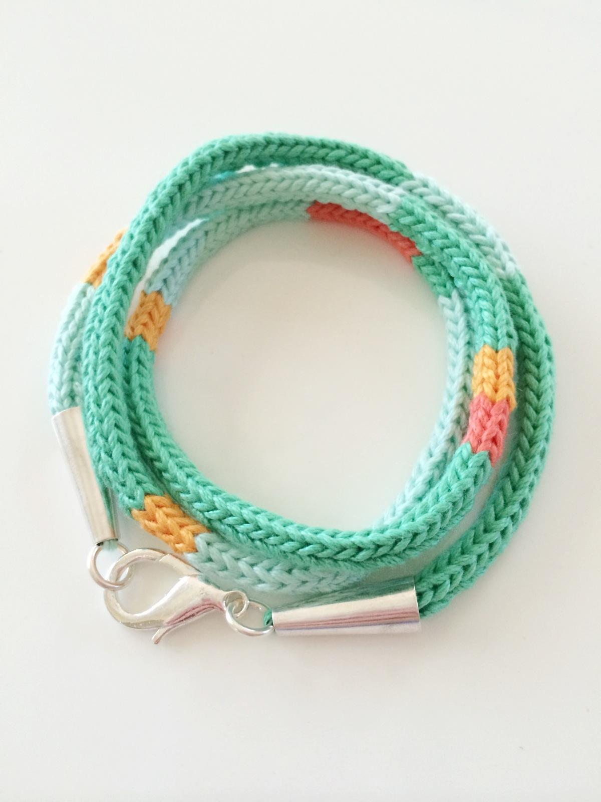 Custom Knit I-Cord Bracelet