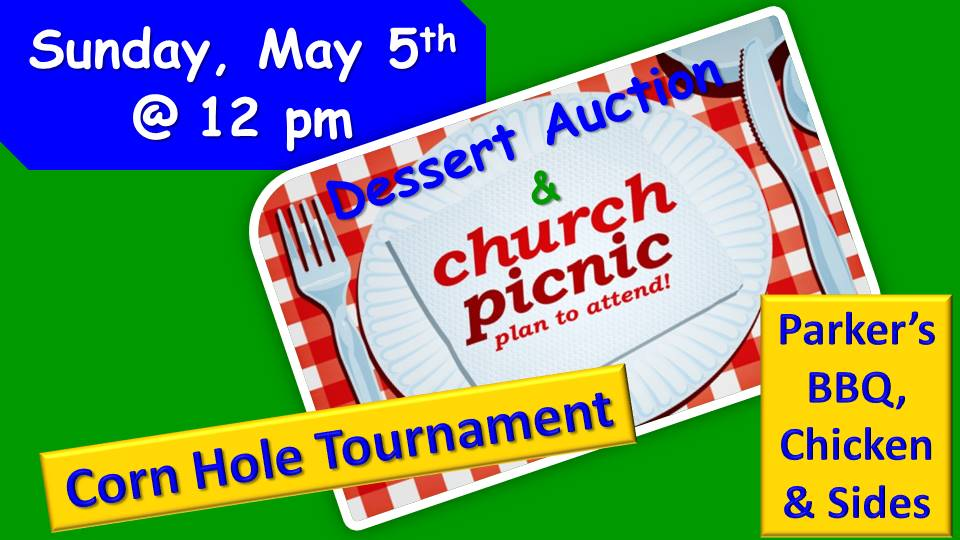 Don't miss the fun! - COME FELLOWSHIP WITH YOUR CHURCH FAMILY![Bring a lawn chair]