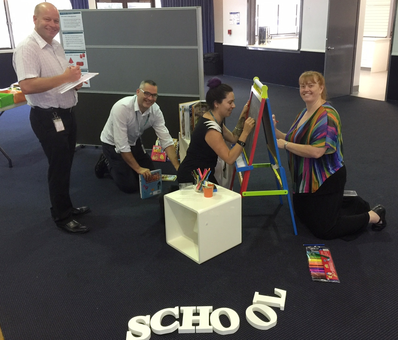 Gold Coast Libraries - hands on visual merchandising workshops