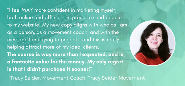 Tracy Seider Your Wellness Website Blueprint Quote Graphic