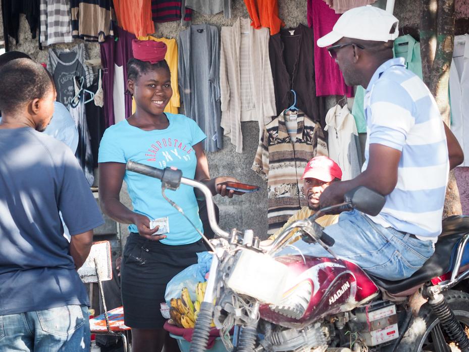 Bartering at the market, Port Au Prince