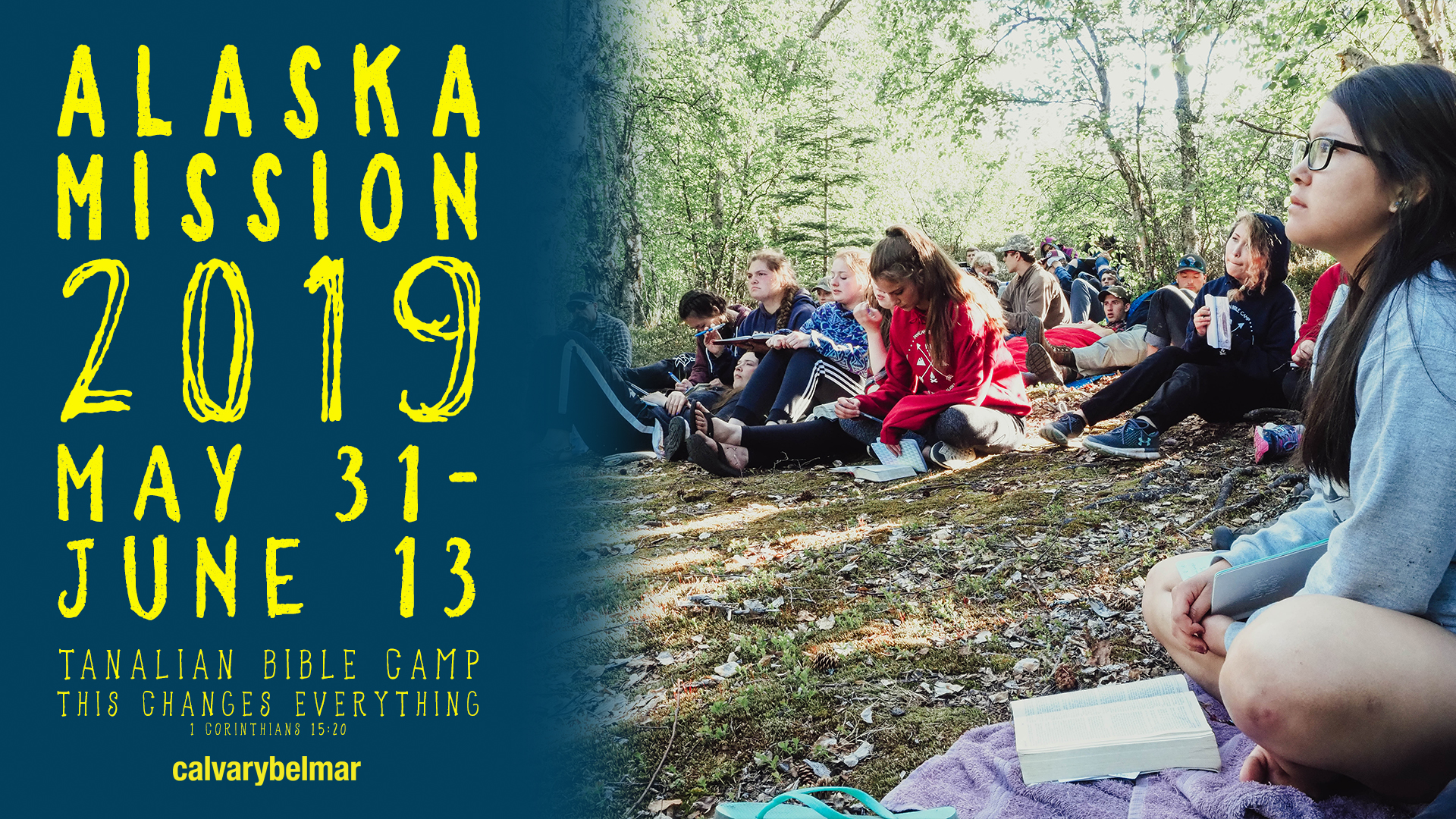 2019 Teen Pursuit Bible study at trail camp