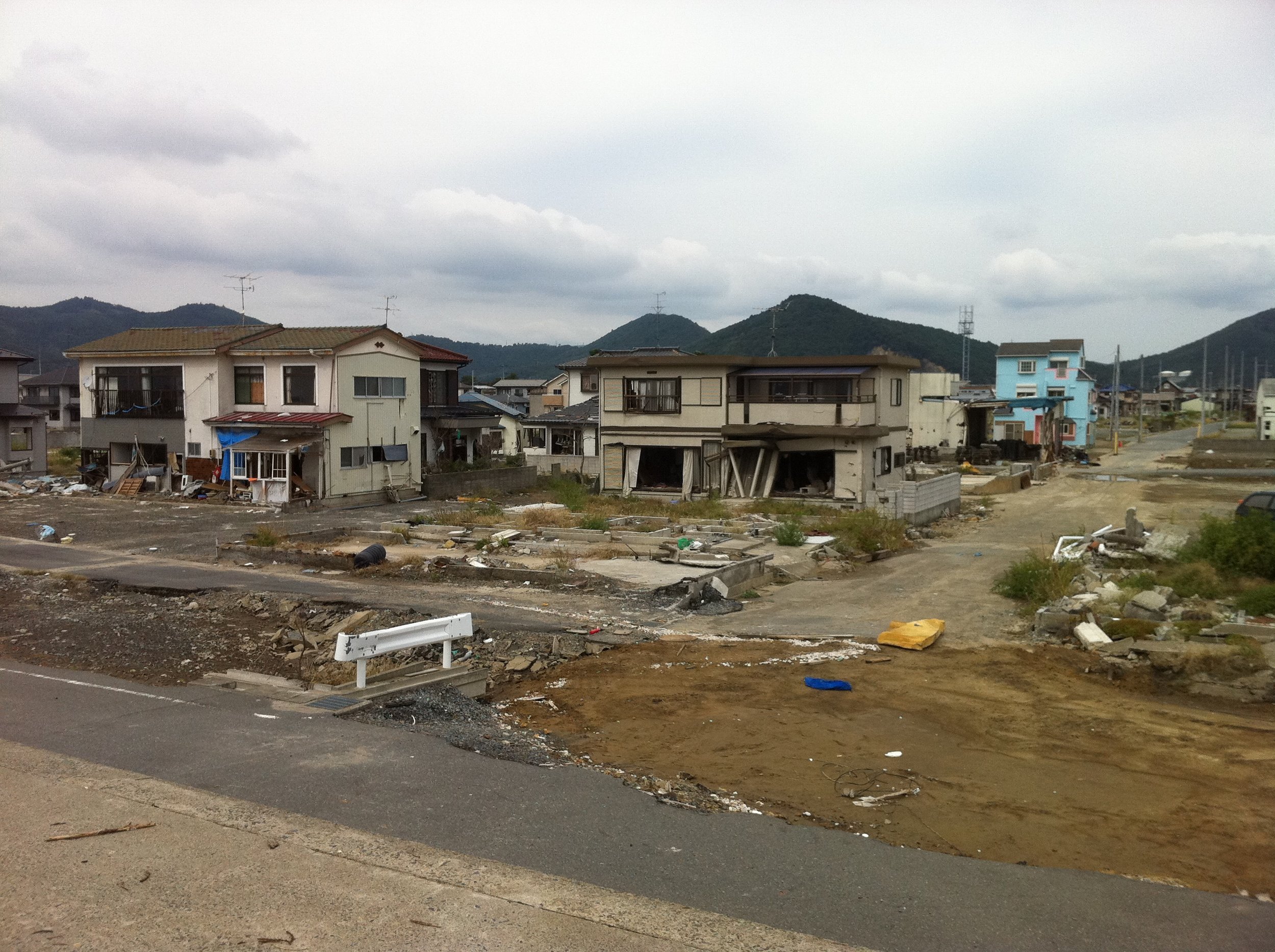 Tsunami destroyed homes 2011