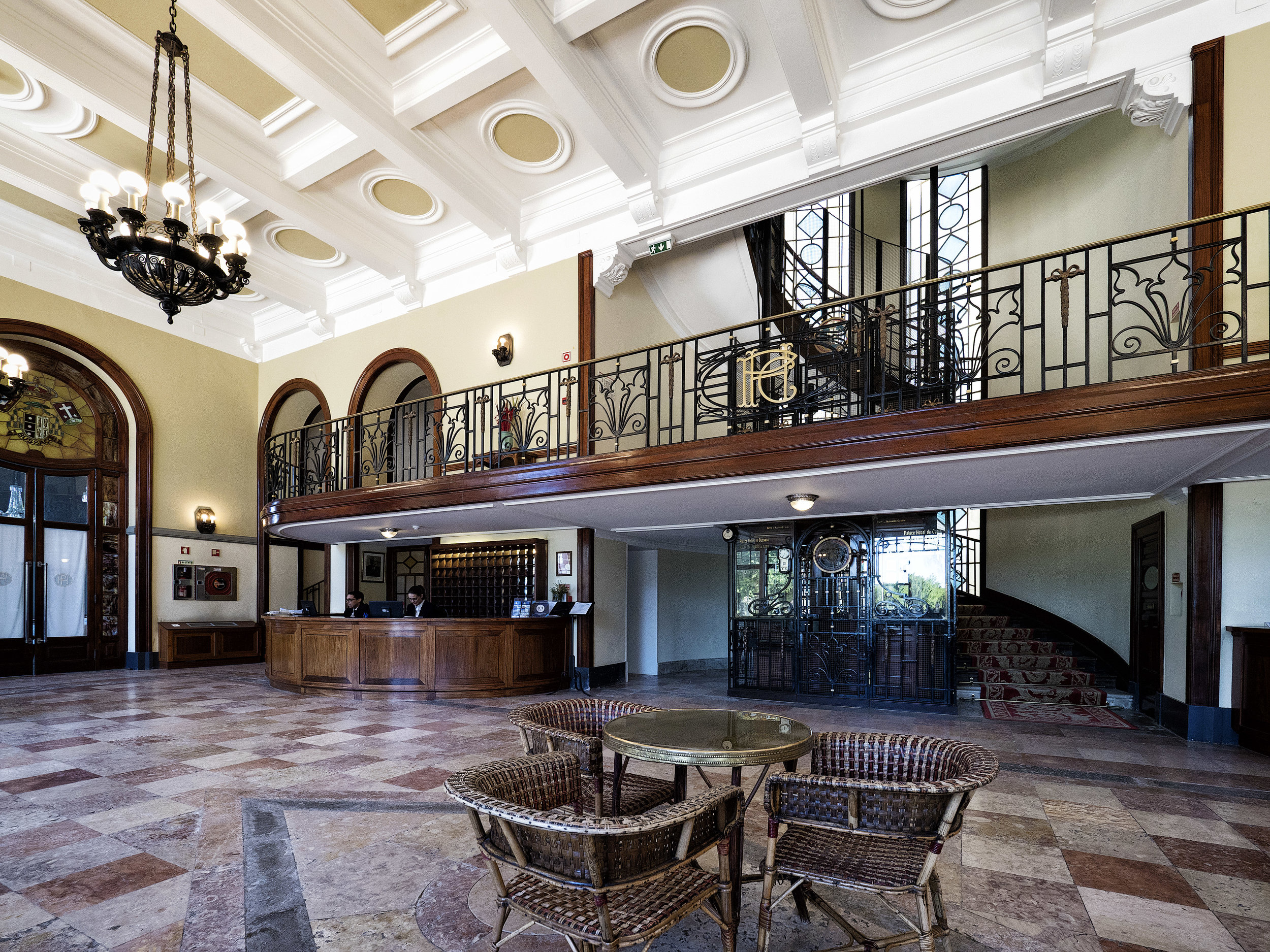 The interior of Curia Palace Hotel