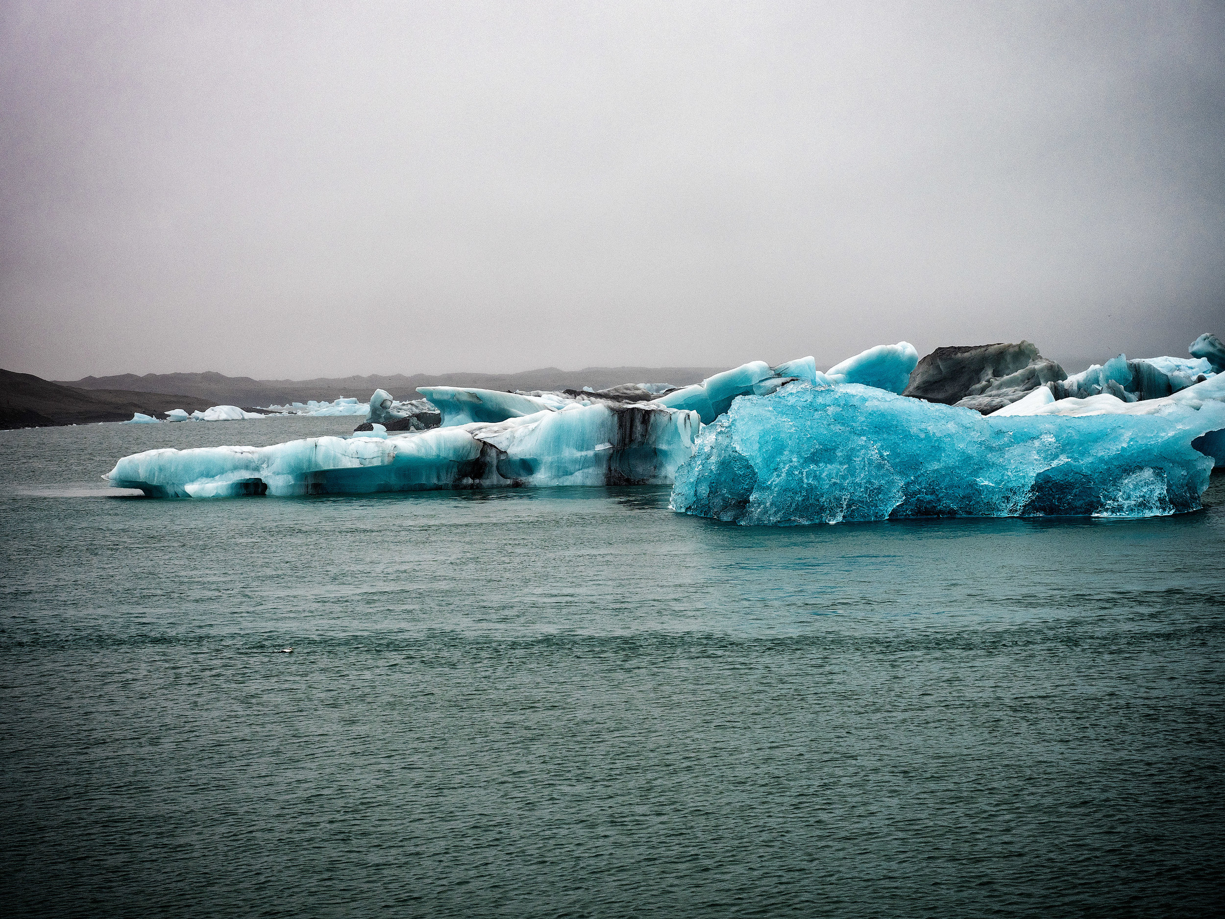 Jokulsarlon - The big iceberg calving lagoon