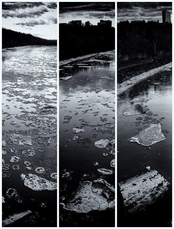 Ice Bloom (Fall) triptych