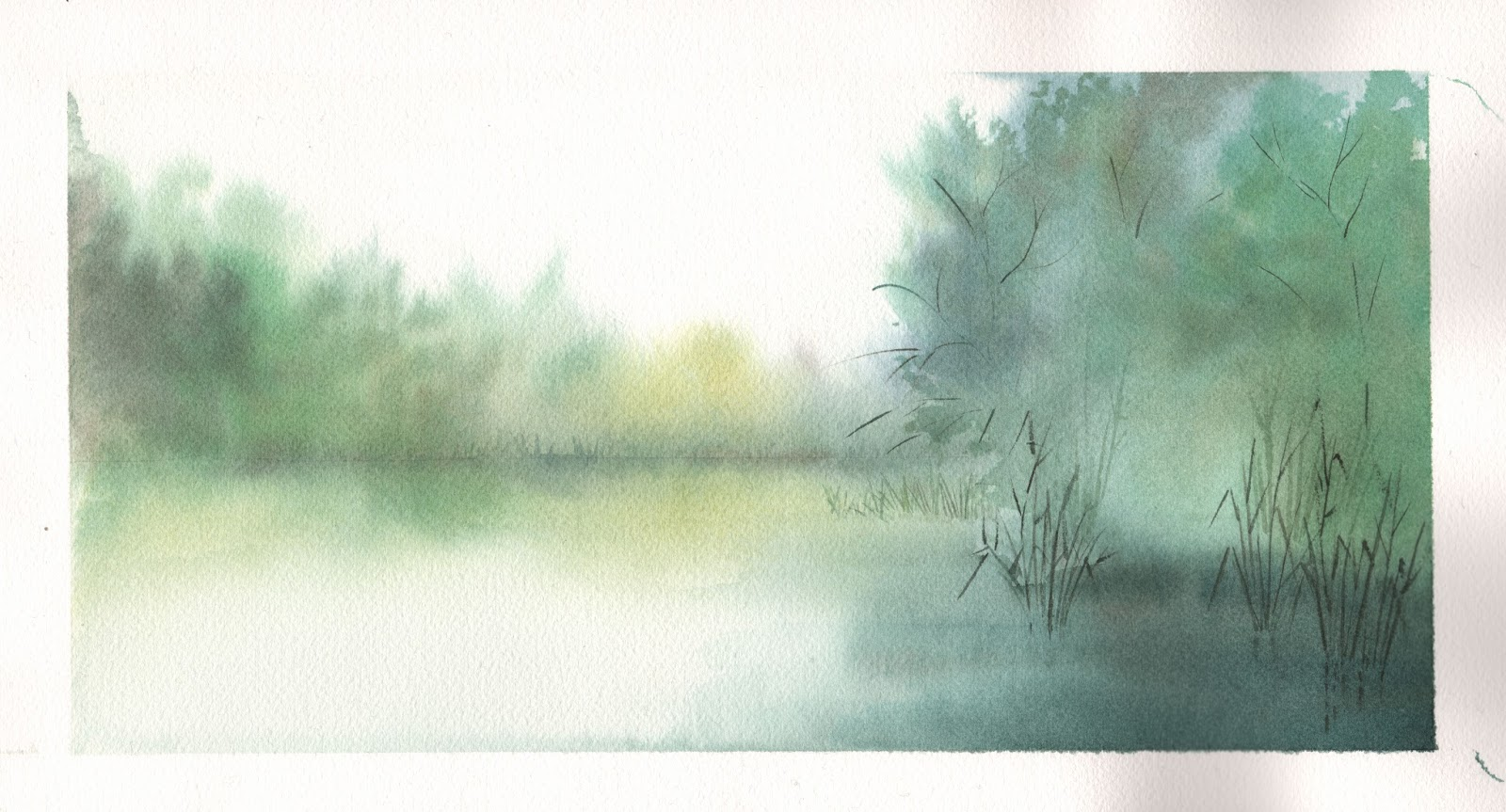 loose watercolor background