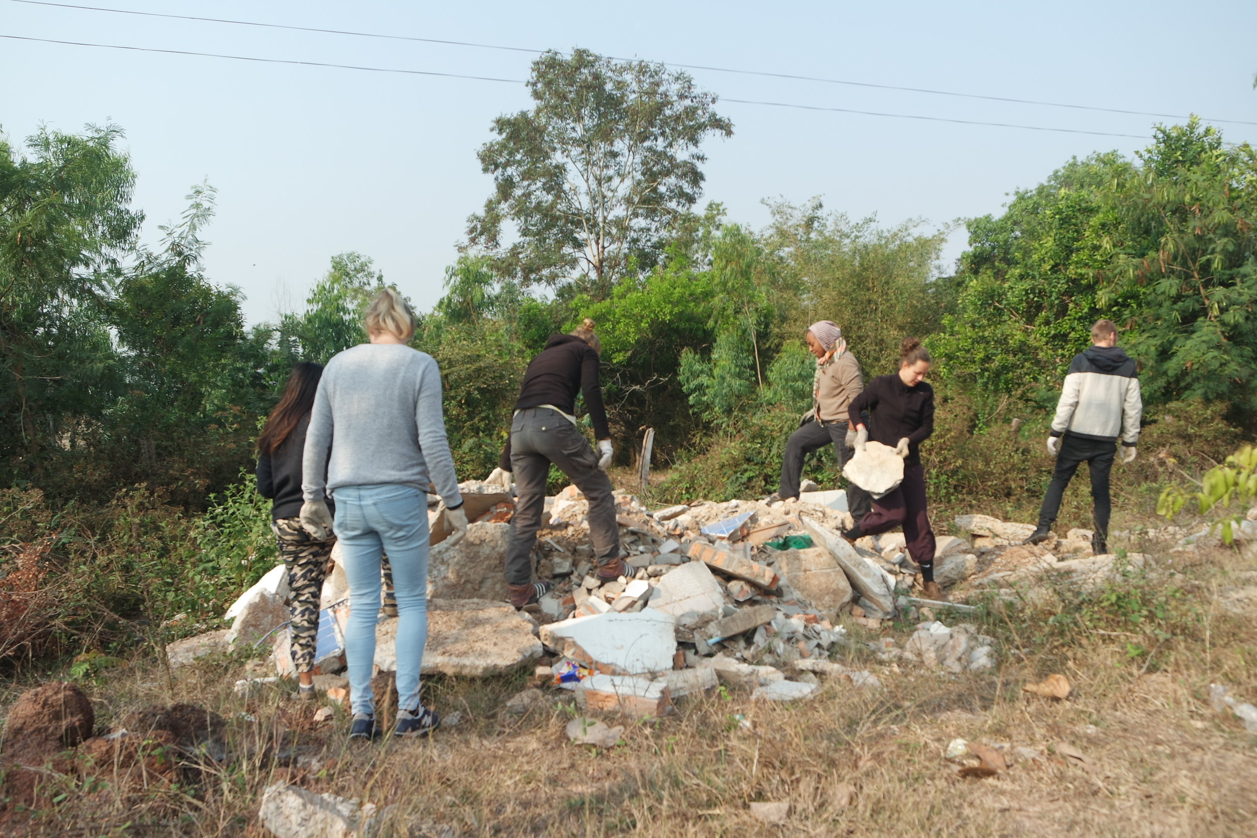 With the power of community we were cleaning roadside dump and gained building material.