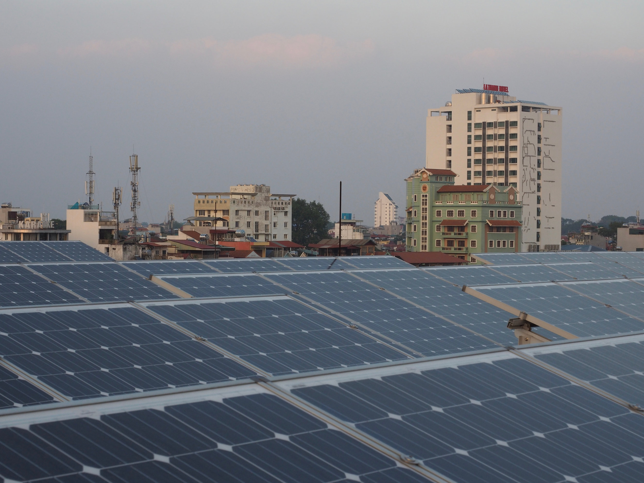 Utility and household scale solar PV is still in the pioneer stage in Vietnam.