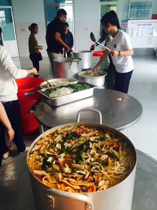 Vegan food donation in Da Nang.