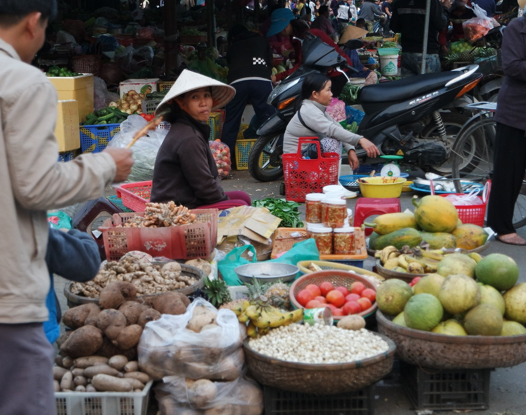 Fresh vegetables at Hoi An's day market.