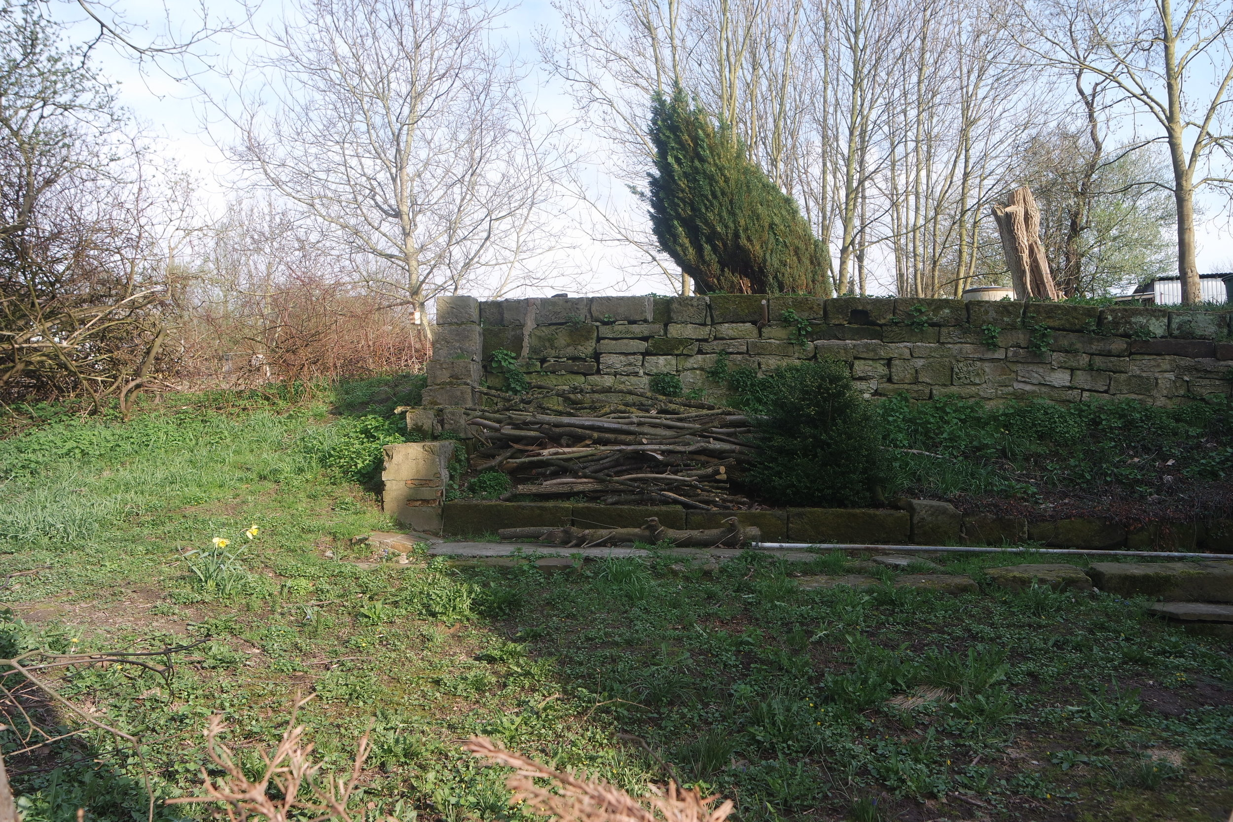 The natural stone wall is one of the eye catchers.