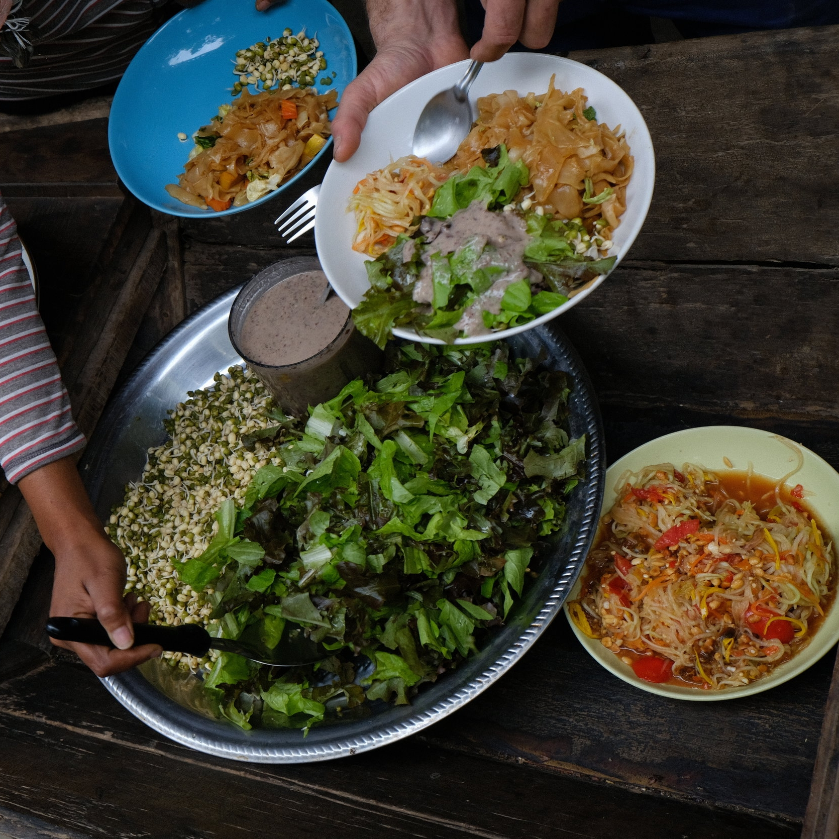 Gaia Ashram is a vegetarian community that is aiming to produce more food from the land and increase food self-reliance.  Photo credit:    Roxane Roses