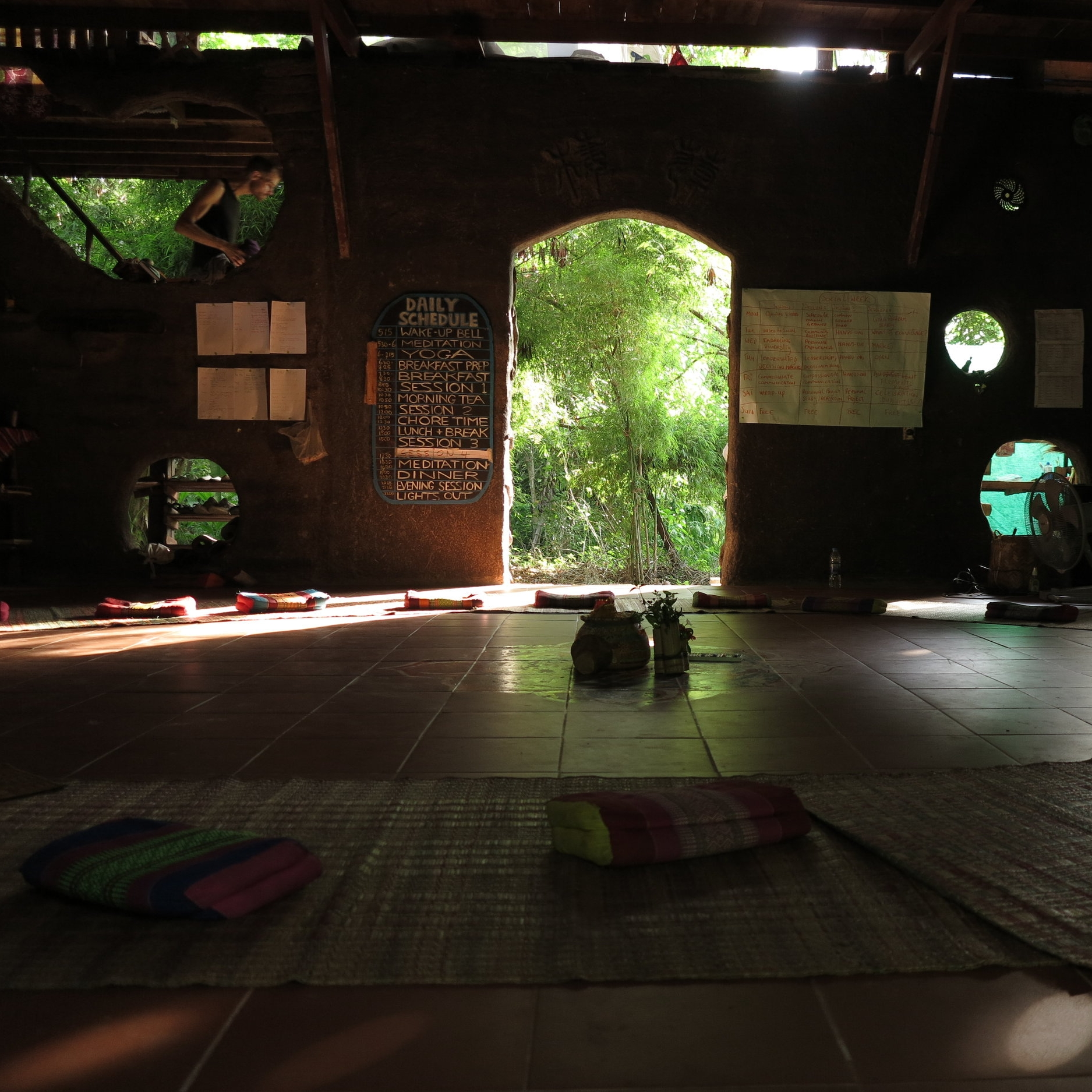 The sala is the place at Gaia Ashram where we eat, meet and learn. It is the main community place and everything else is structured around it.  Photo credit:    Ramona Luca