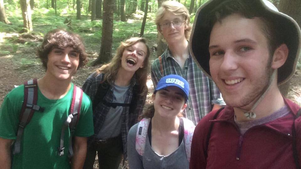 Hiking with students for ESSYI.