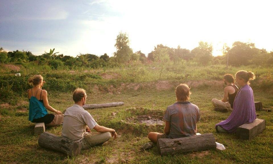 Sharing experiences, feelings and thoughts at Gaia Ashram, Thailand.