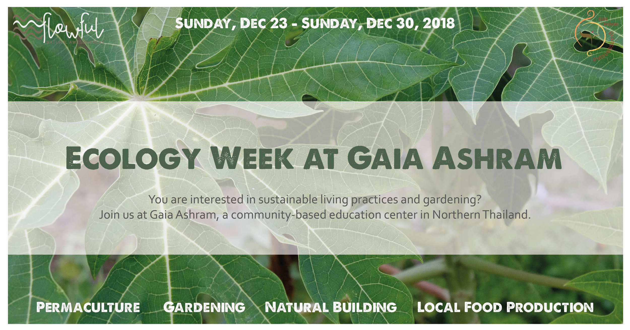 Ecology and Permaculture week, Thailand