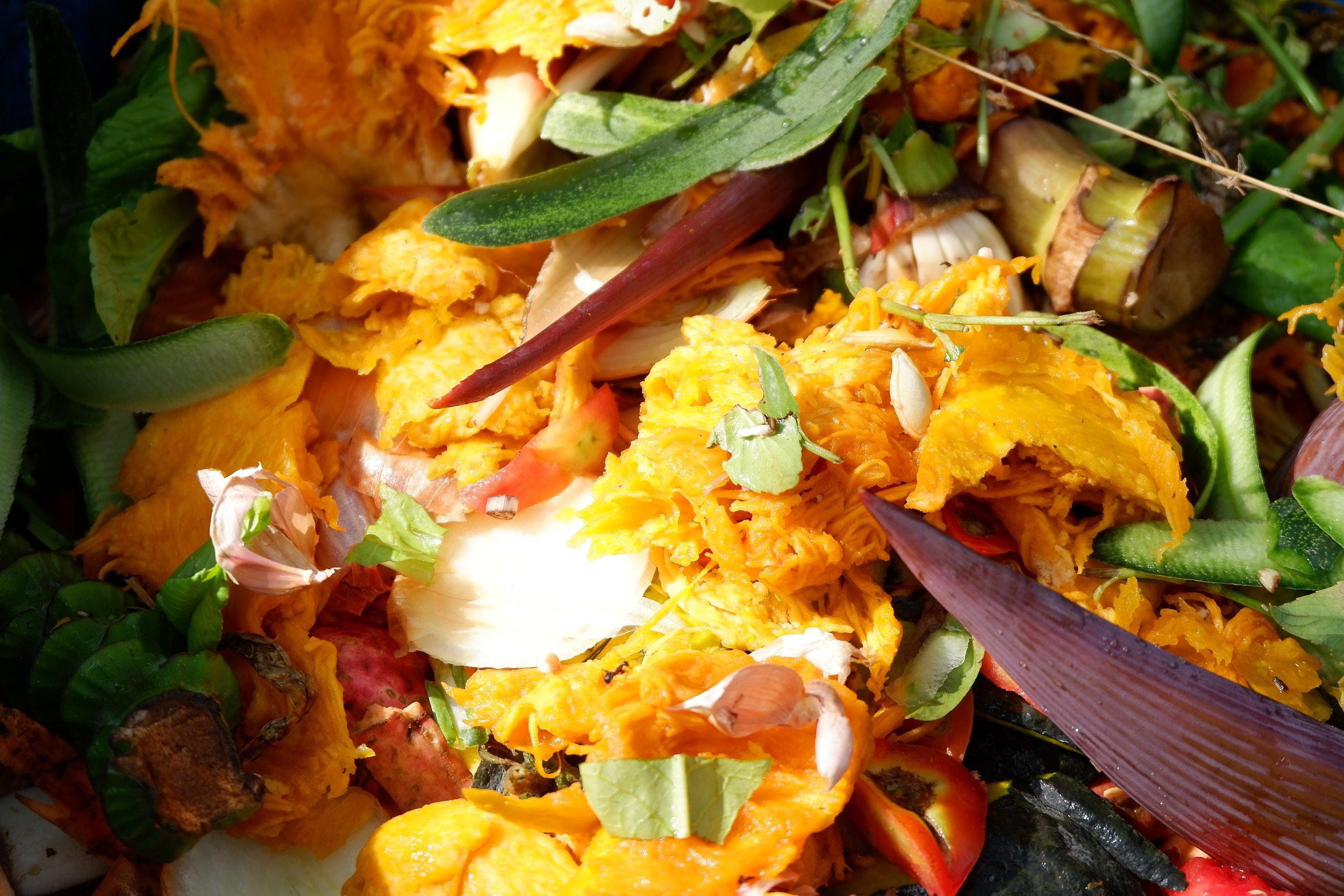 Beautiful mix of vegetable scraps.