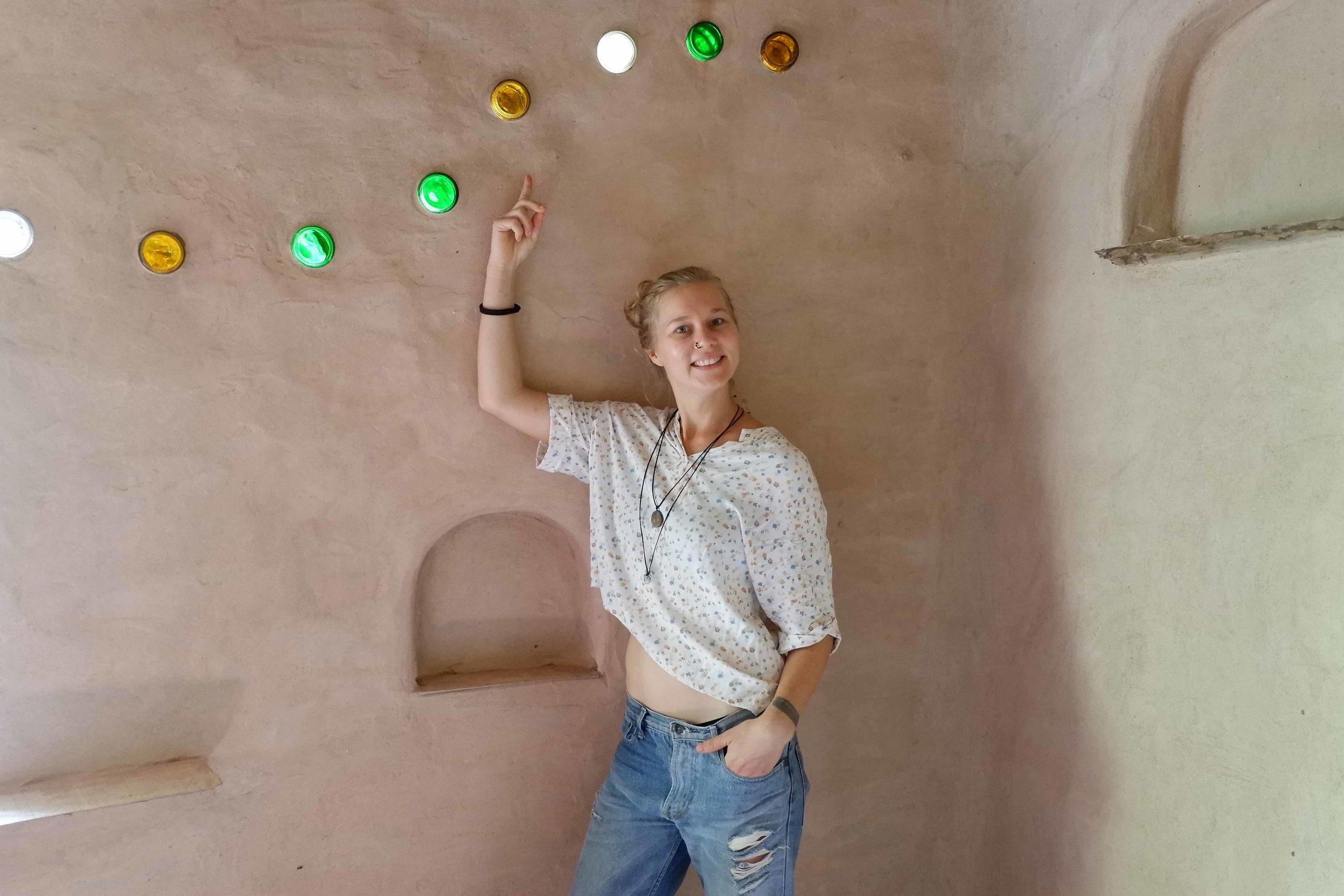 Ökologisches Bauen ist eine von Karlas Leidenschaften und ihr Hauptthema bei  flowful .