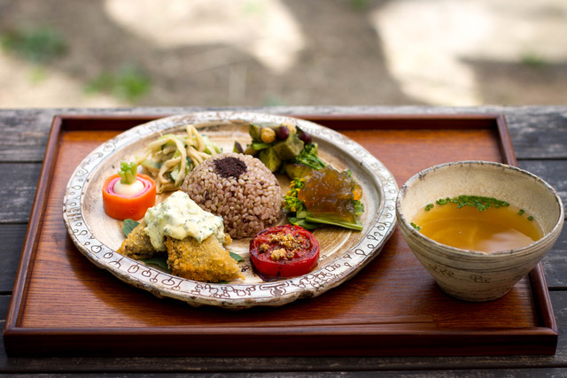 Eating from the land combines japanese heritage and macrobiotics.