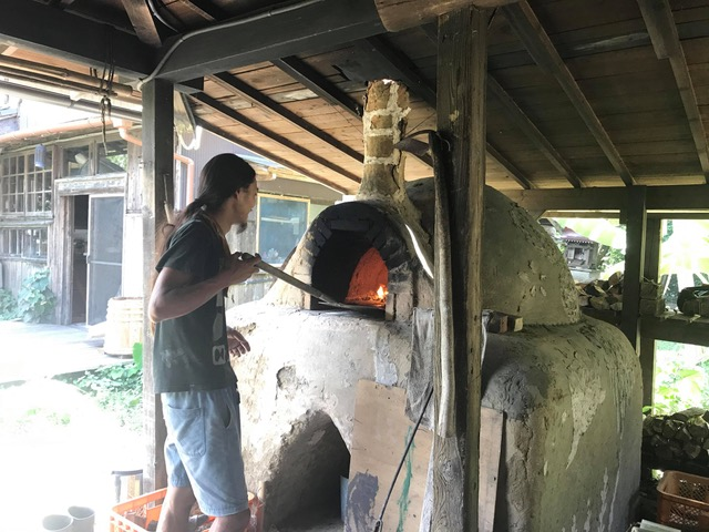 A classic in community, wood fired pizza oven.