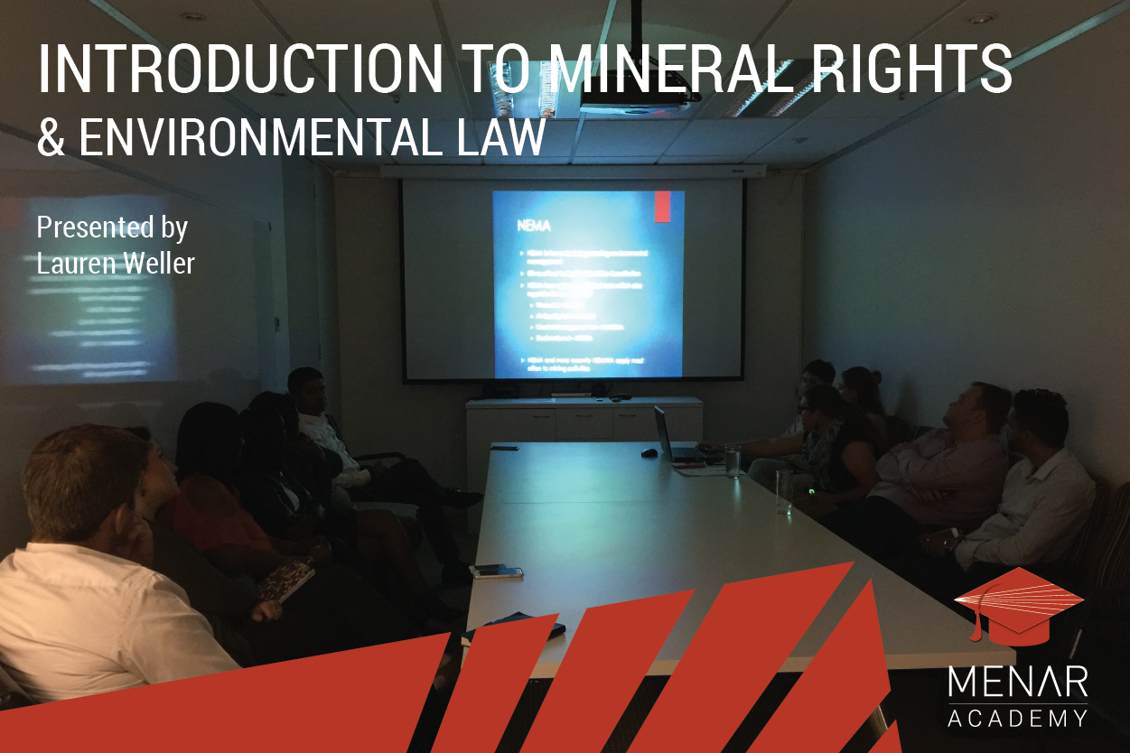 INTRODUCTION TO MINERAL RIGHTS & ENVIRONMENTAL LAW  Presented by Lauren Weller