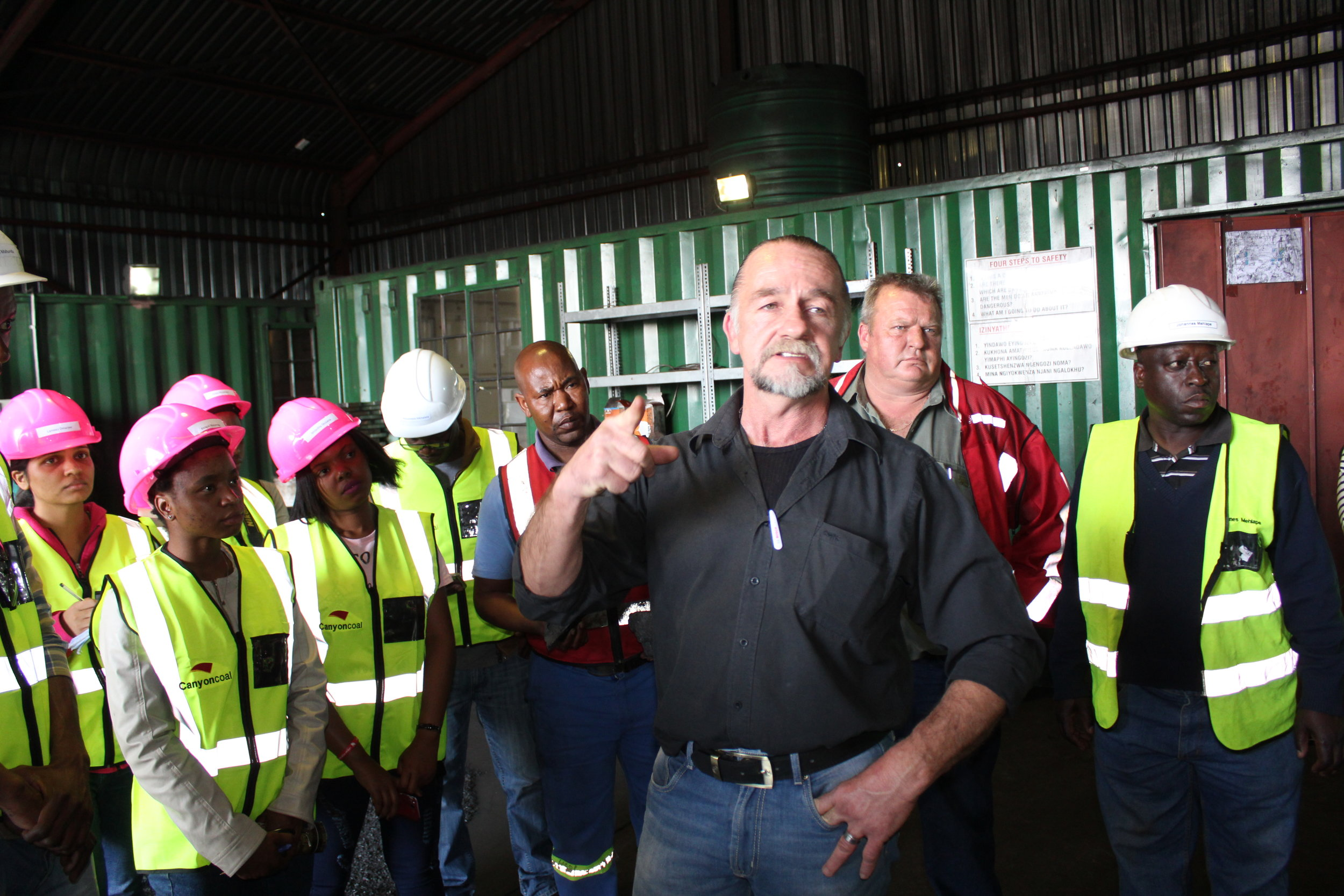 Japie Kleinhans – Ngwenya contract site manager, also answered questions from the media.