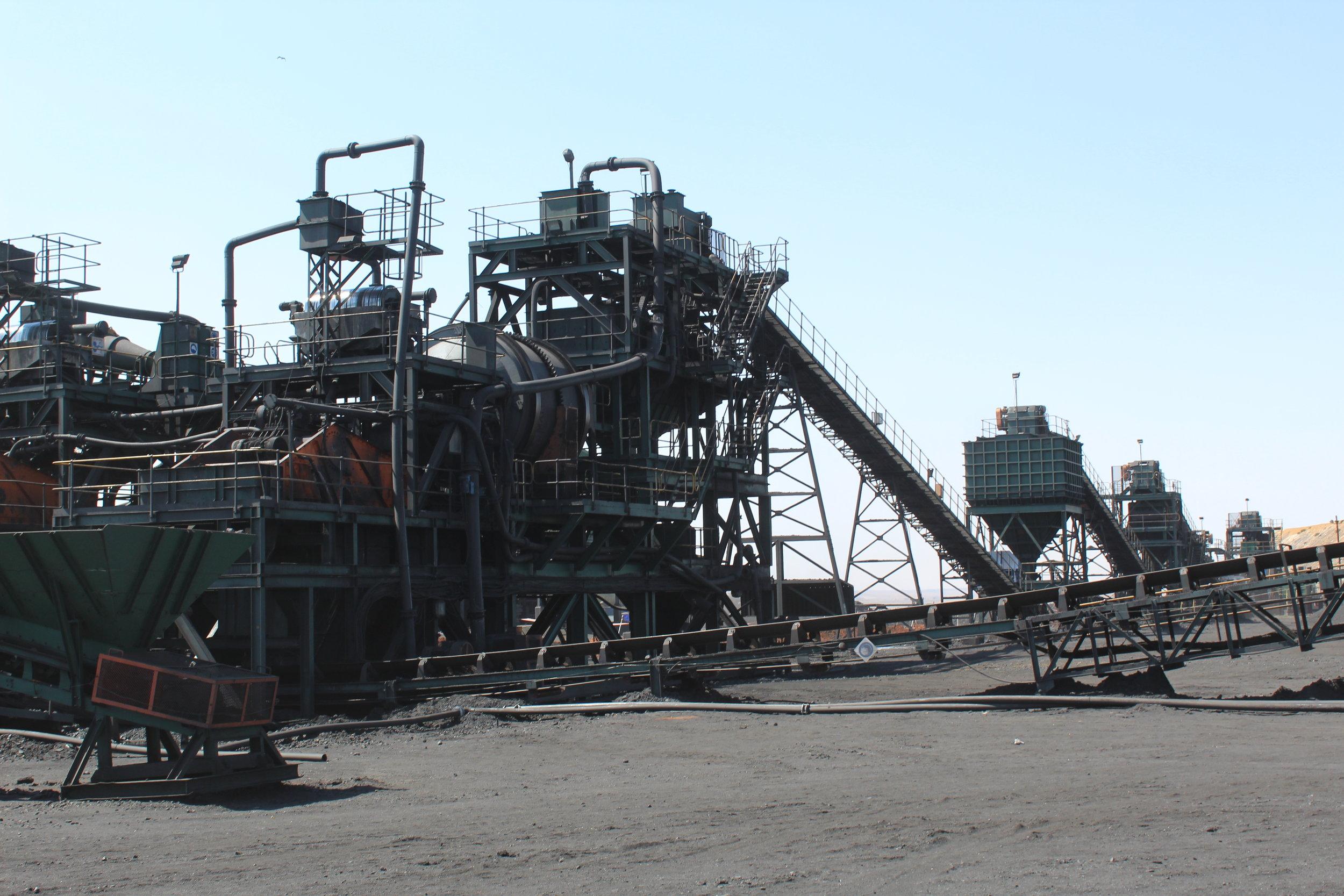 The Coal Wash Plant at Phalanndwa Mine, Delmas.