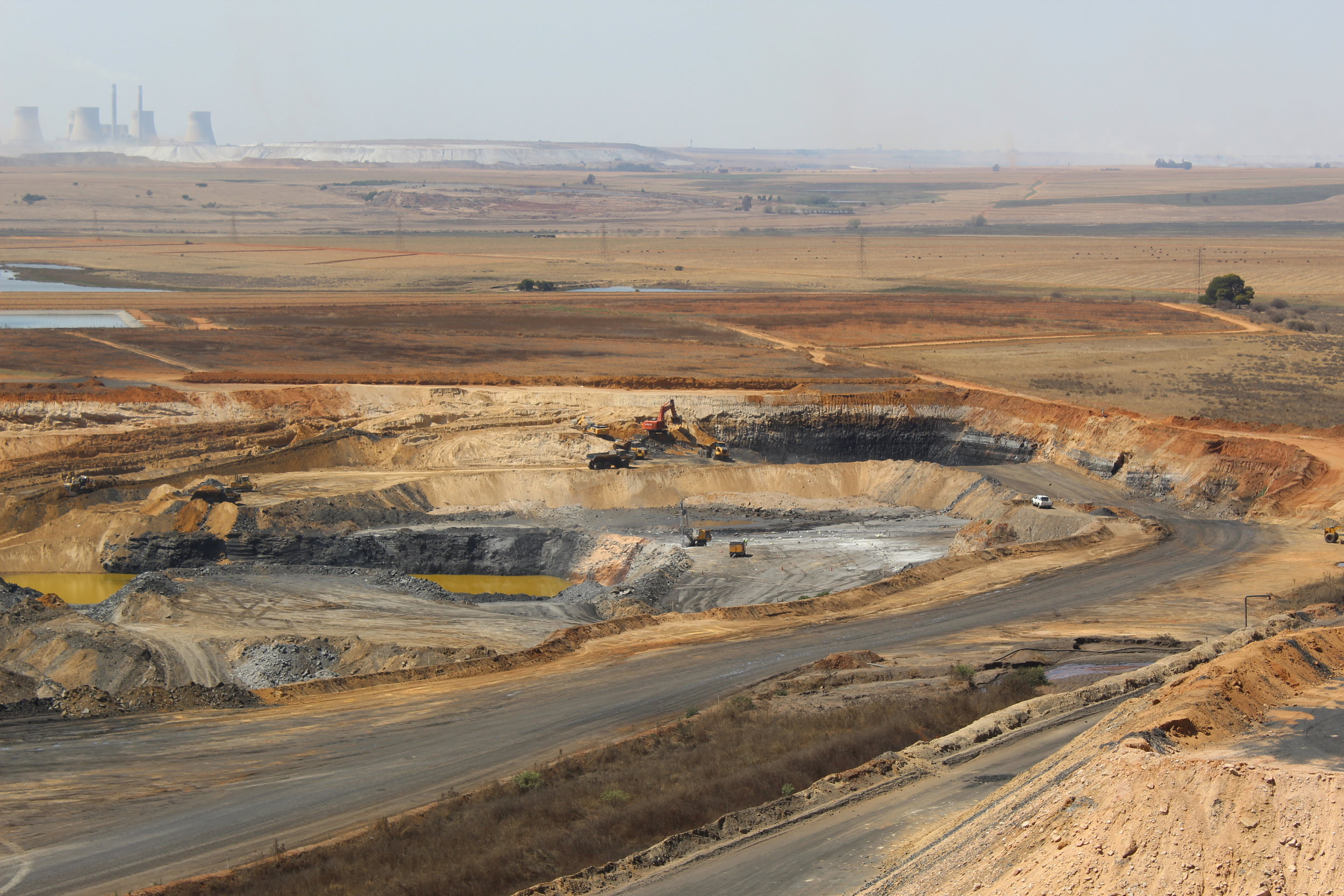 Phalanndwa colliery has been operating since October 2010 and has a remaining life span of seven years. Kusile Power Station can be seen in the distance.