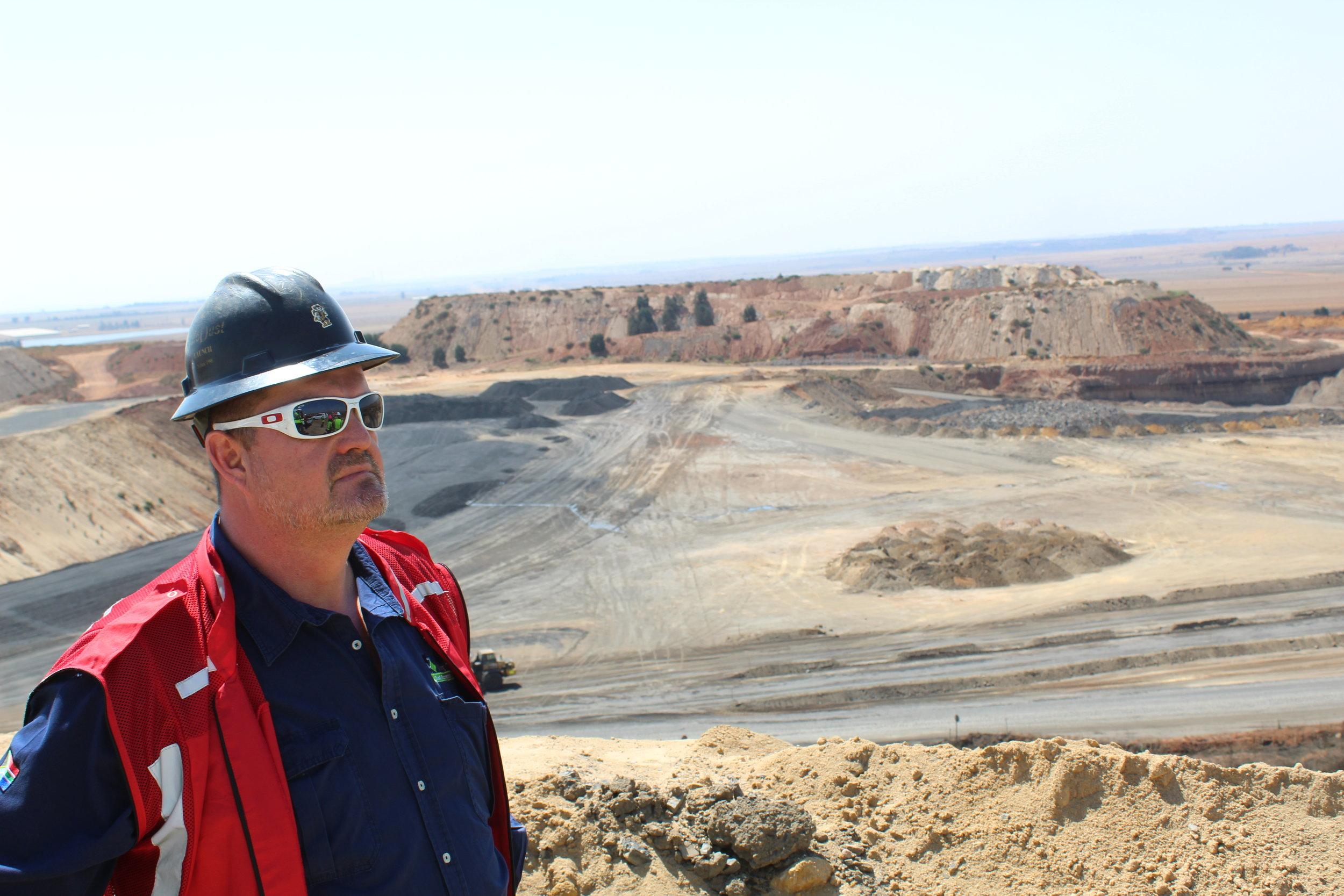 The GM of Phalanndwa Mine, Alan Mabbett.