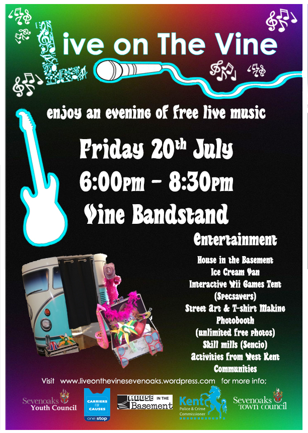 Friday 20th July - Live on the Vine is back! With young performers from your local area performing from 6:00pm to 8:30pm. Café on the Vine is staying open till late on the night.For more info visit HERE