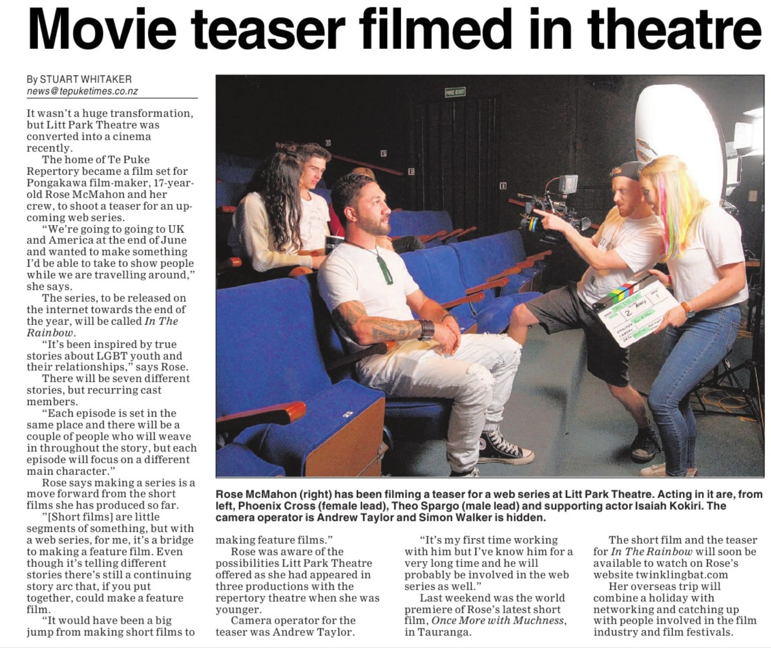 Copy of Article from Te Puke Times