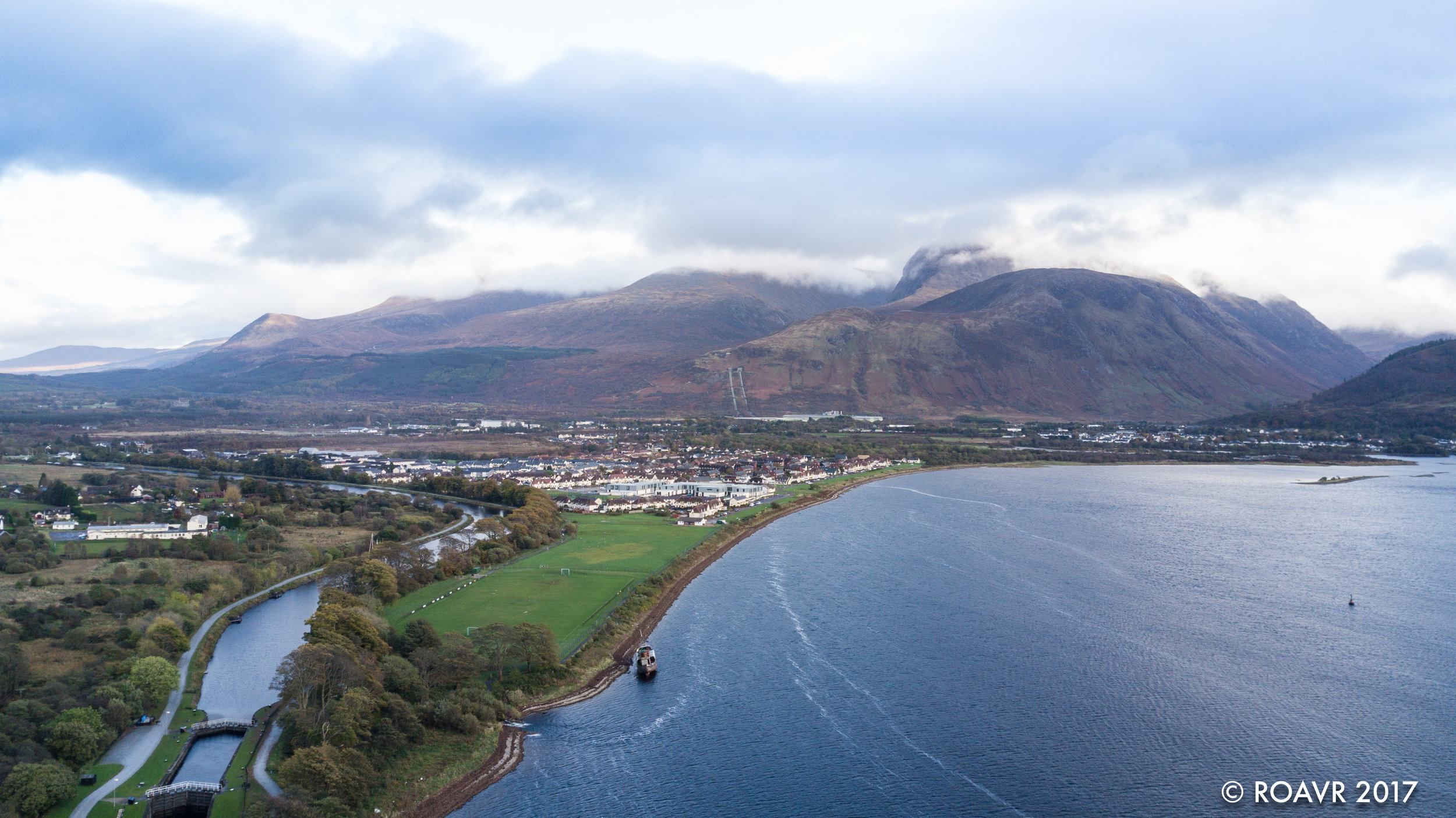 Corpach, Fort William and Ben Nevis.