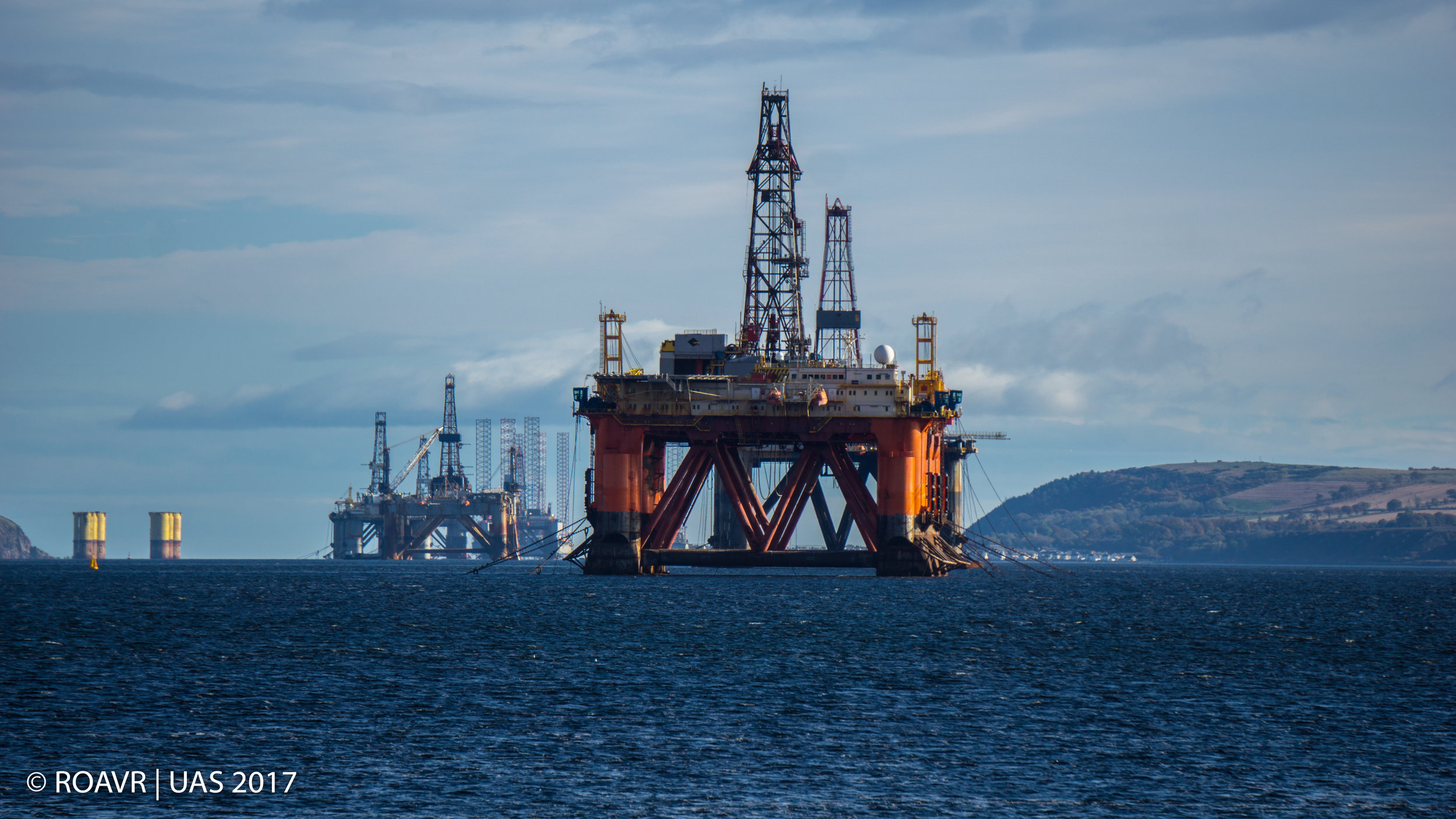 Stacked Rigs - Cromarty Firth.