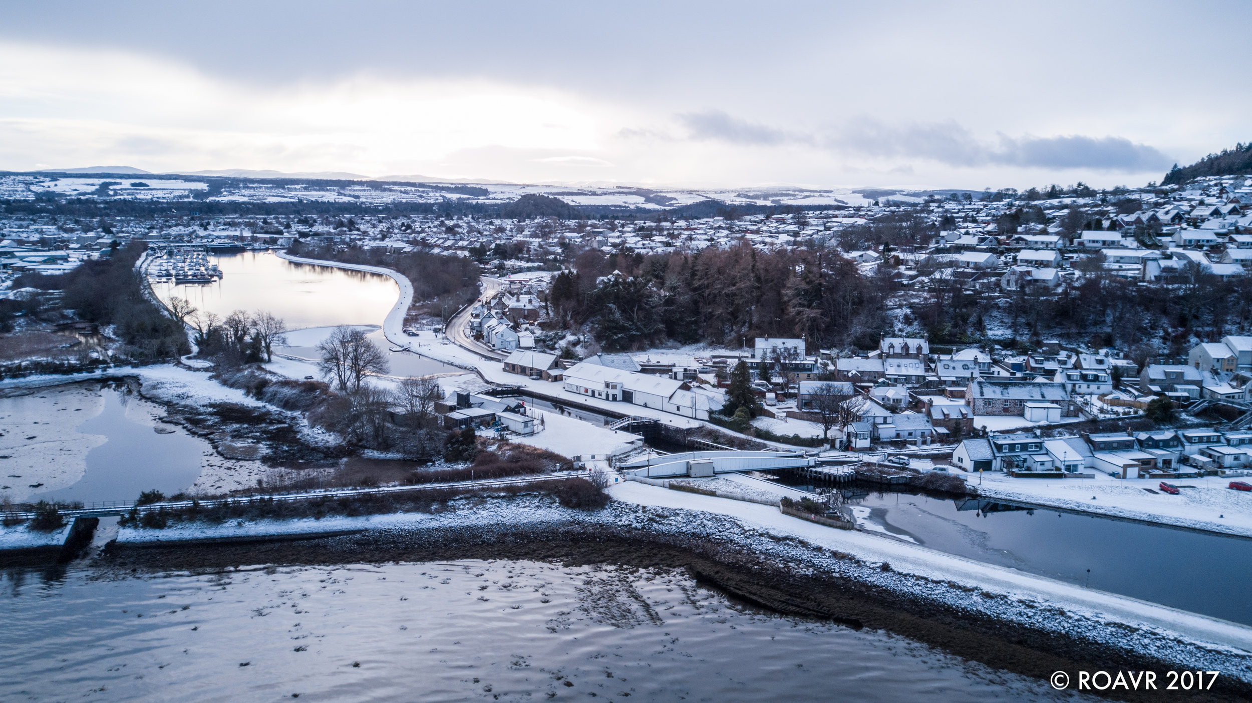Clachnaharry Swing Bridge - Inverness, January 2018