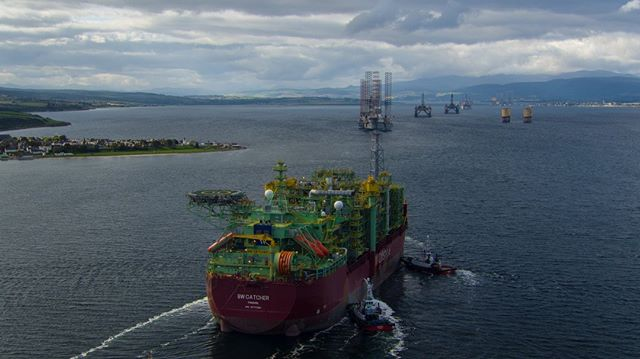F P S O  N I G G - The worlds largest FPSO, Catcher B enters the Cromarty Firth from Singapore before deploying to the North Sea. 2017.⠀ ⠀ #oilandgas #nigg #globalgroup #GAC #FPSO #CromartyFirth #Cromarty #PortofCromarty⠀ ⠀ Learn more - https://buff.ly/2TVxPHo
