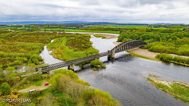 Spey Viaduct - Apart from a short closure for renovation work in 1928, the line to Garmouth remained in use until the Beeching cuts in 1963 when the coastal rail route was closed bringing yet another village era to an end. ⠀ ⠀ #riverspey #speyviaduct #heritagerailway
