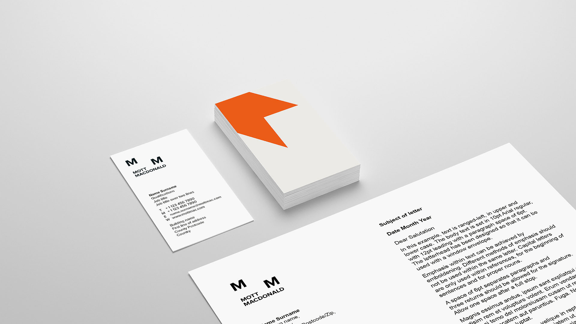 Stationery with extreme margins and vertical orientation