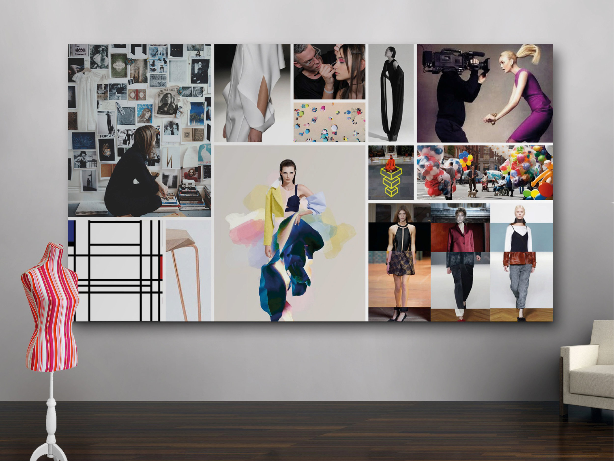 Brand definition mood-board – 'Style revealed'