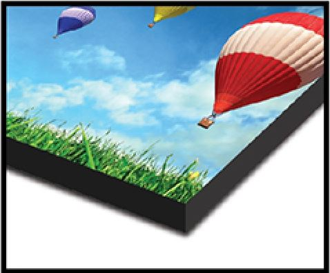 Black Border - The composition of your image is maintained on the face of your canvas and a black border is applied along the sides of the print. This is a great wrap option for black and white prints.
