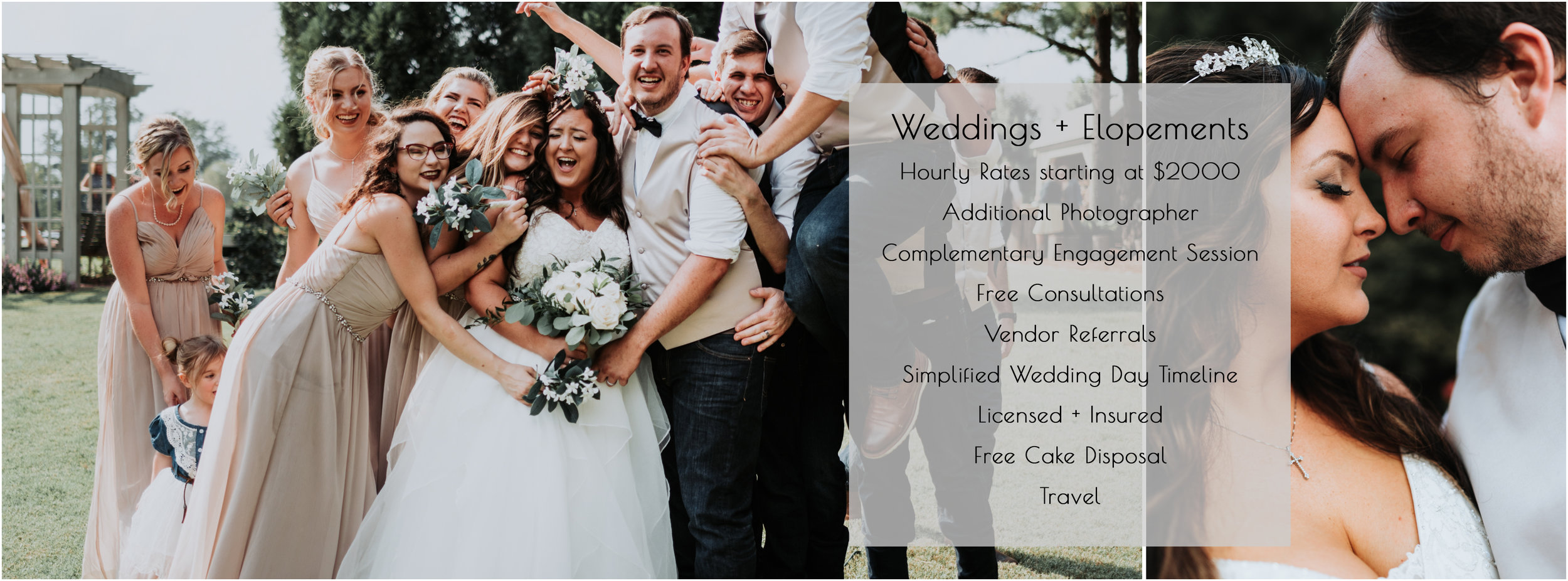 CLICK HERE FOR MORE INFORMATION ON WEDDING PACKAGES