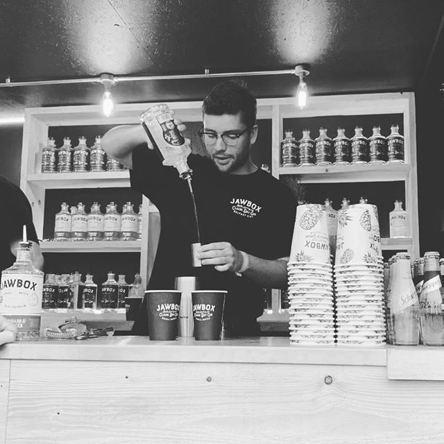 Our main man @jamieprowse1 creating some @jawboxgin creations @tasteoflondon this week, go and say 🙋‍♂️ WARNING - He may or may not be sporting his Clark Kent glasses 🤓
